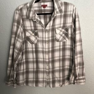 Merona Gray/White flannel shirt